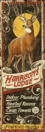 Deer Lodge Wood Sign