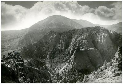 Cheyenne Mountain Colorado Archival Photo Poster