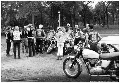Head Hunters Motorcycle Gang Archival Photo Poster