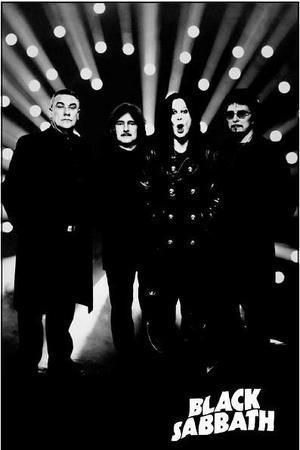 Black Sabbath B&W Music Poster