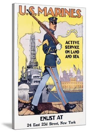 U.S. Marines, Active Service On Land And Sea