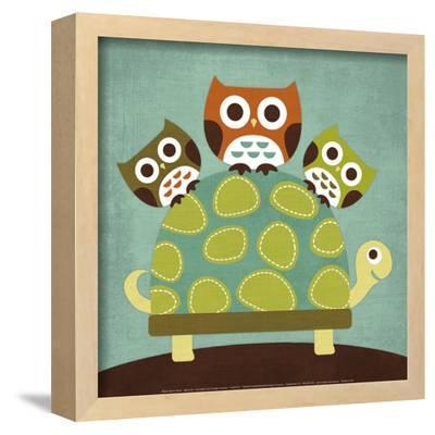 Three Owls on Turtle