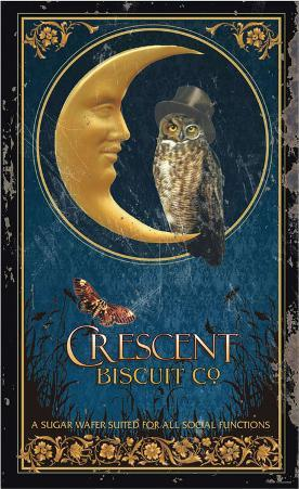 Crescent Biscuit Company Tin Sign