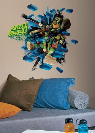 Teenage Mutant Ninja Turtles Brick Poster Peel & Stick Giant Wall Decal