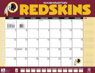 Washington Redskins - 2014 Desk Calendar
