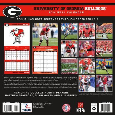 Georgia Bulldogs - 2014 Mini Calendar