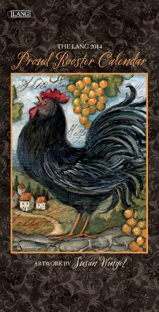 Proud Rooster - 2014 Vertical Calendar