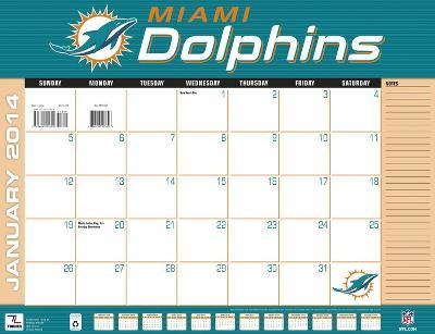 Miami Dolphins - 2014 Desk Calendar