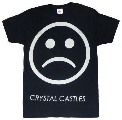 Crystal Castles - Sad Face on Black (slim fit)