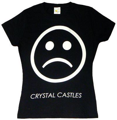 Juniors: Crystal Castles - Sad Face on Black