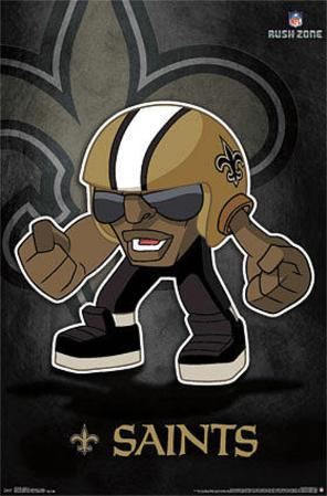 New Orleans Saints - Rusher NFL Sports Poster