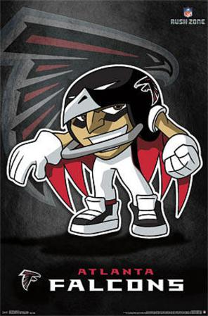 Atlanta Falcons - Rusher Football Poster