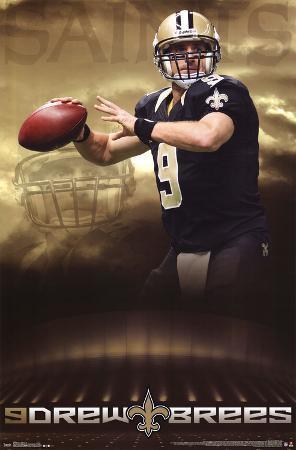 Drew Brees New Orleans Saints NFL Sports Poster