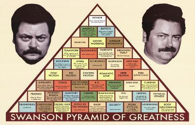 Parks and Recreation Swanson Pyramid of Greatness Television Poster