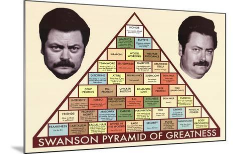 picture relating to Ron Swanson Pyramid of Greatness Printable Version referred to as Parks and Activity Swanson Pyramid of Greatness Tv set Poster