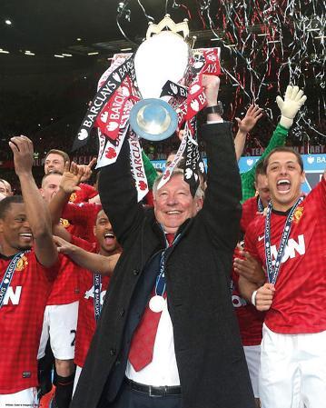 Sir Alex Ferguson Manchester United Champions Glossy Photograph