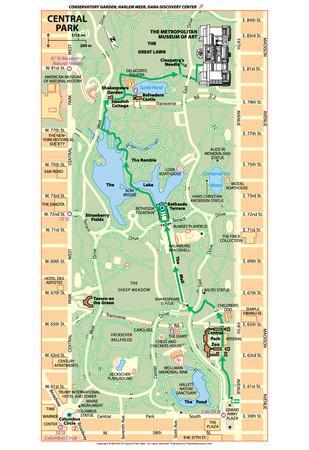Michelin Official Central Park Map Art Print Poster