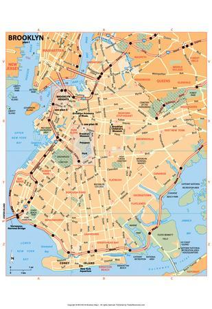 Michelin Official Brooklyn Map Art Print Poster