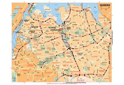 Michelin Official Queens NYC Map Art Print Poster