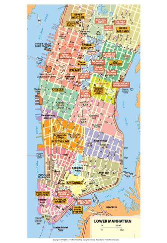 It's just an image of Printable Map of Manhattan with regard to tourist