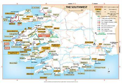 Michelin Official Southwest Ireland Region Map Art Print Poster