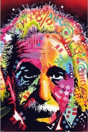 Albert Einstein by Dean Russo Pop Art Print Poster