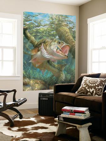 Large Mouth Bass (Indoor/Outdoor) Vinyl Wall Mural