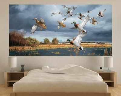Ducks Flying (Indoor/Outdoor) Vinyl Wall Mural