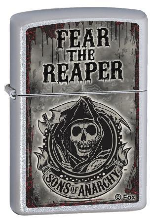 Sons Of Anarchy Fear Reaper Satin Chrome Zippo Lighter