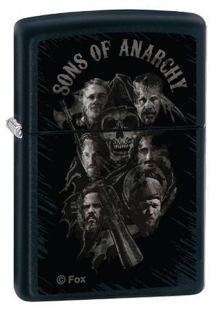 Sons Of Anarchy Men Black Matte Zippo Lighter