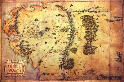 The Hobbit: An Unexpected Journey - Map Of Middle Earth