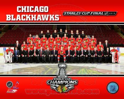 Chicago Blackhawks 2013 NHL Stanley Cup Champions Team Sit Down Photo