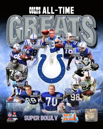 Indianapolis Colts All Time Greats Composite