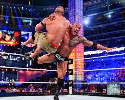 The Rock Wrestlemania 29 Action