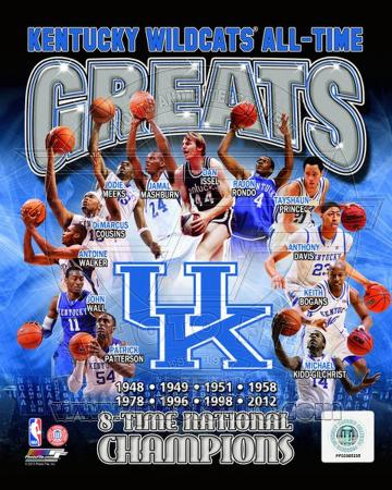 University of Kentucky Wildcats All Time Greats Composite