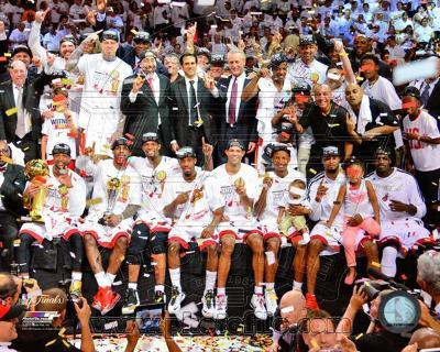 The Miami Heat Celebrate Winning Game 7 of the 2013 NBA Finals