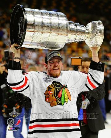 NHL Andrew Shaw with the Stanley Cup Game 6 of the 2013 Stanley Cup Finals