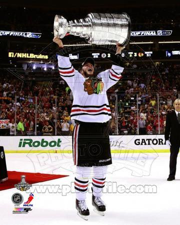 Jonathan Toews with the Stanley Cup Game 6 of the 2013 Stanley Cup Finals