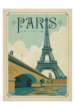 Paris, France (Eiffel Tower Blue Sky)
