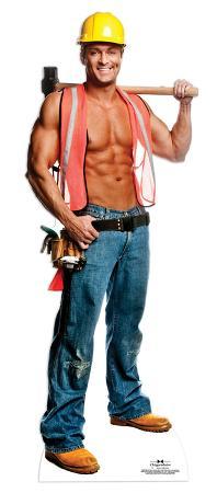 Chippendale Billy Jeffrey - Construction Worker Lifesize Standup