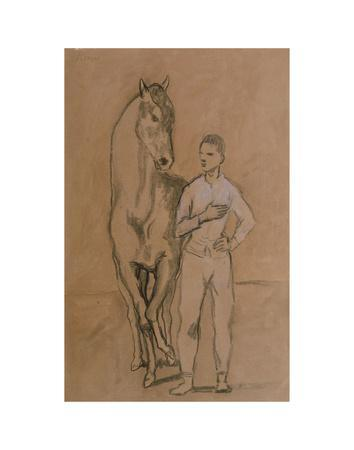 Horse with a Youth in Blue, 1905-6