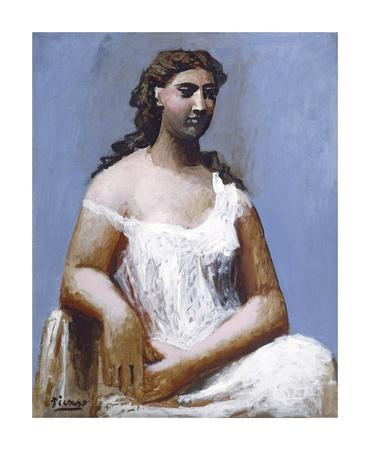 Seated Woman in a Chemise, 1923