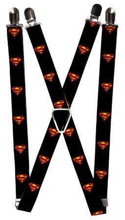 Superman - Shield Black Suspenders