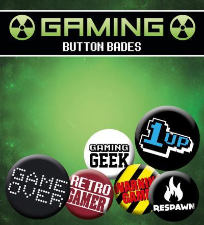 Gaming Retro Gamer Badge Pack