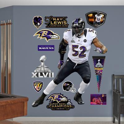 Baltimore Ravens Ray Lewis Super Bowl 47 Wall Decal Sticker