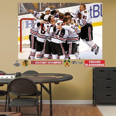 NHL Chicago Blackhawks Chicago Blackhawks 2013 Stanley Cup Celebration Mural Decal Sticker