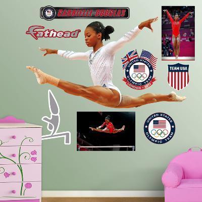 Gymnastics Gabby Douglas - Leap Wall Decal Sticker