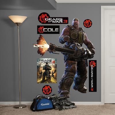 Gears Of War 3 Cole Wall Decal Sticker