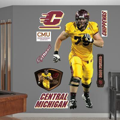 NCAA/NFLPA Eric Fisher CMU Central Michigan Chippewas 2013 Wall Decal Sticker