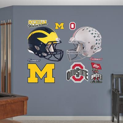 NCAA Michigan-Ohio State Rivalry Pack Wall Decal Sticker